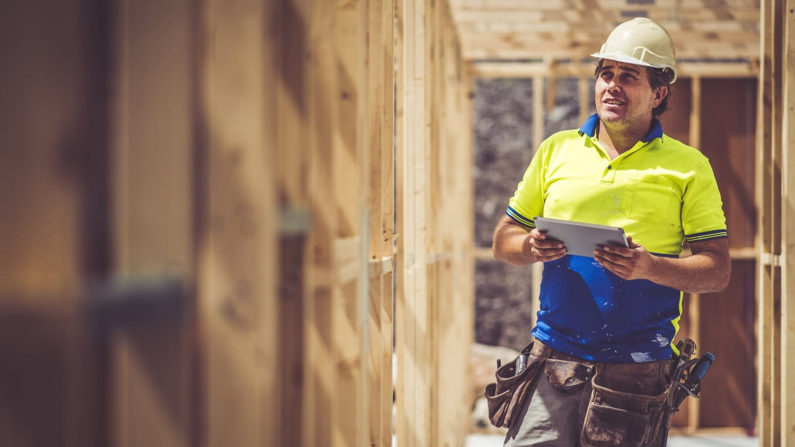Construction Worker Conducting An Inspection Stock Photo