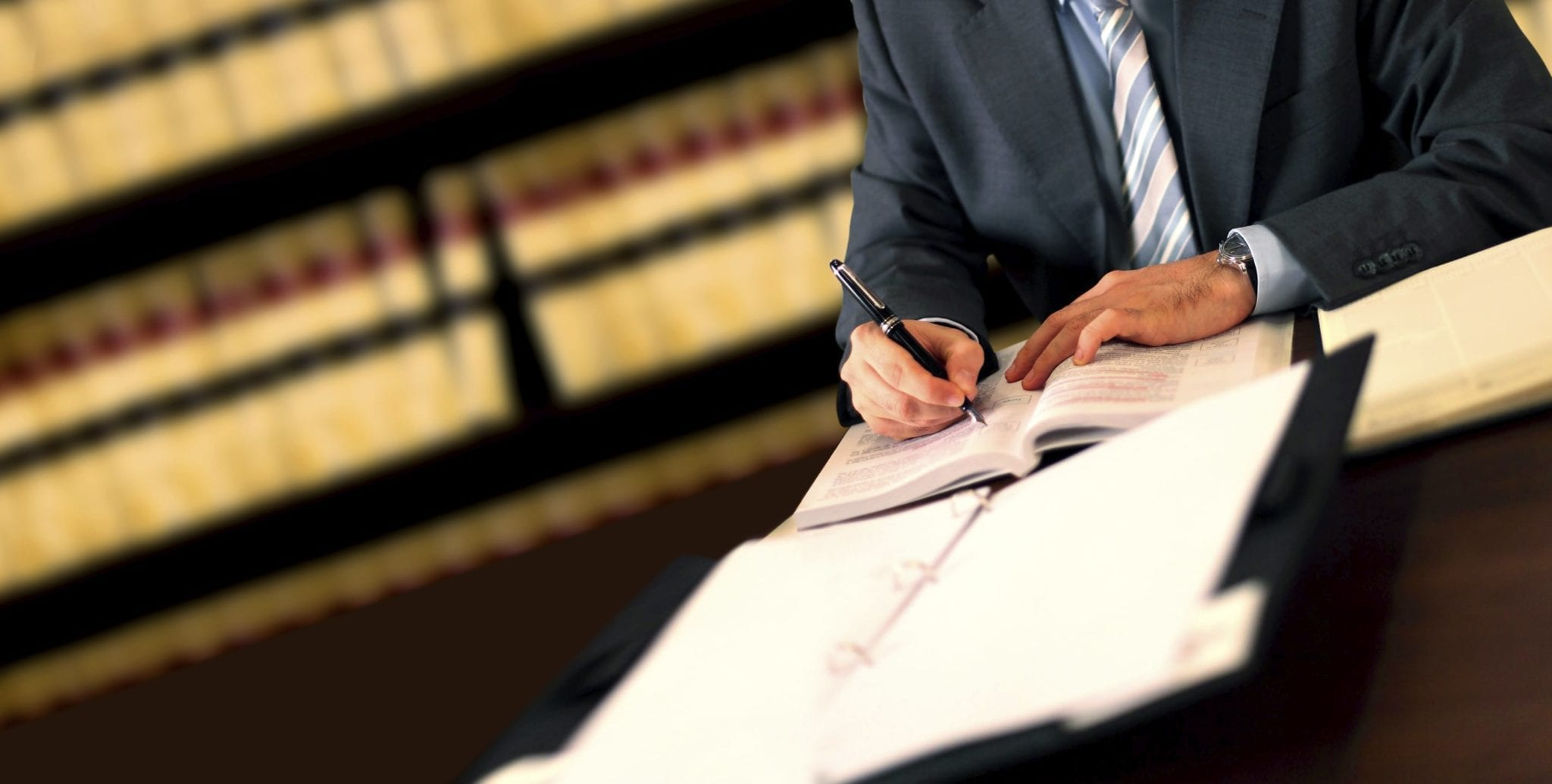 Attorney Signing Legal Documents Stock Photo