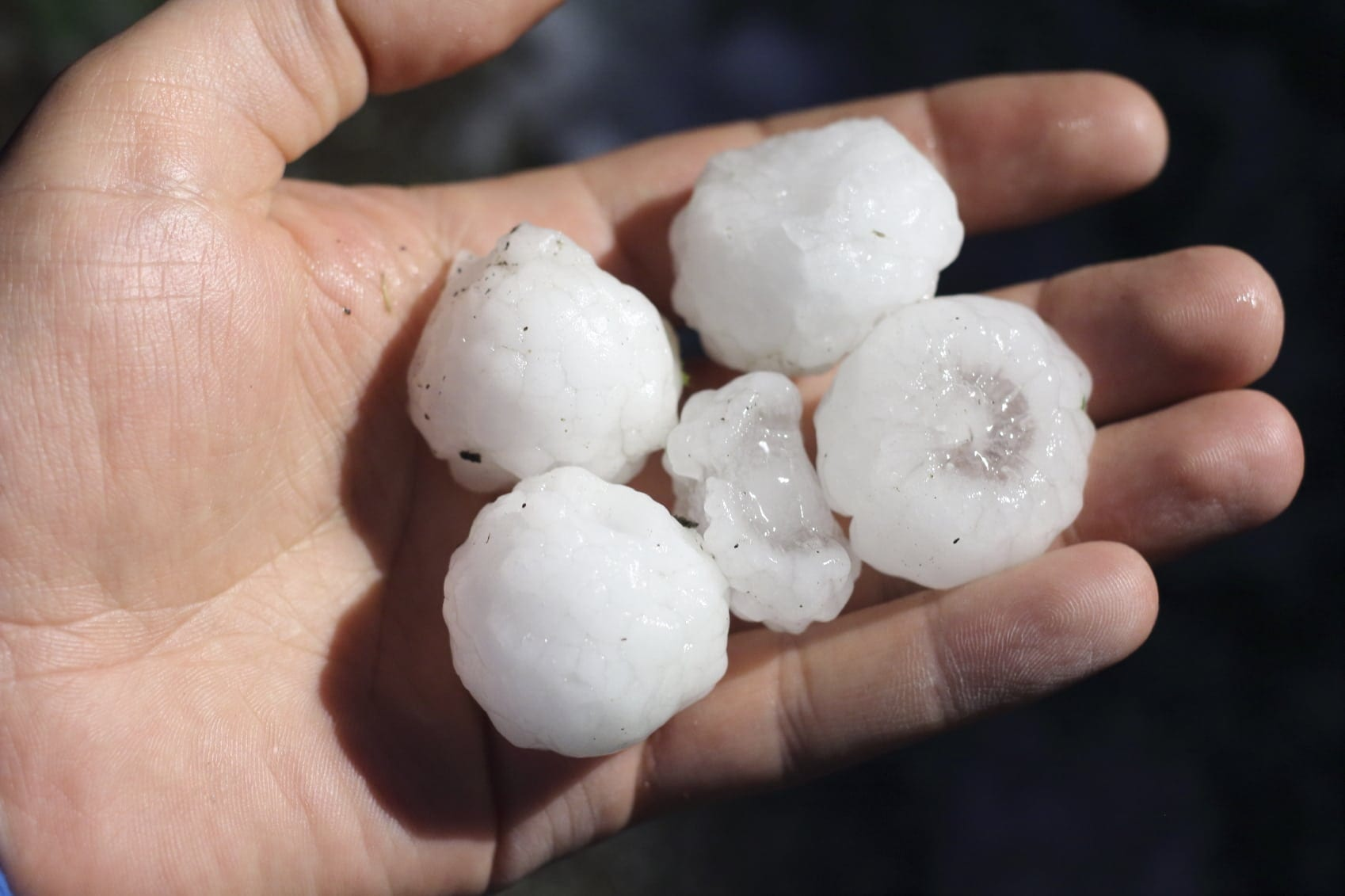 Large Chunks Of Hail Stock Photo