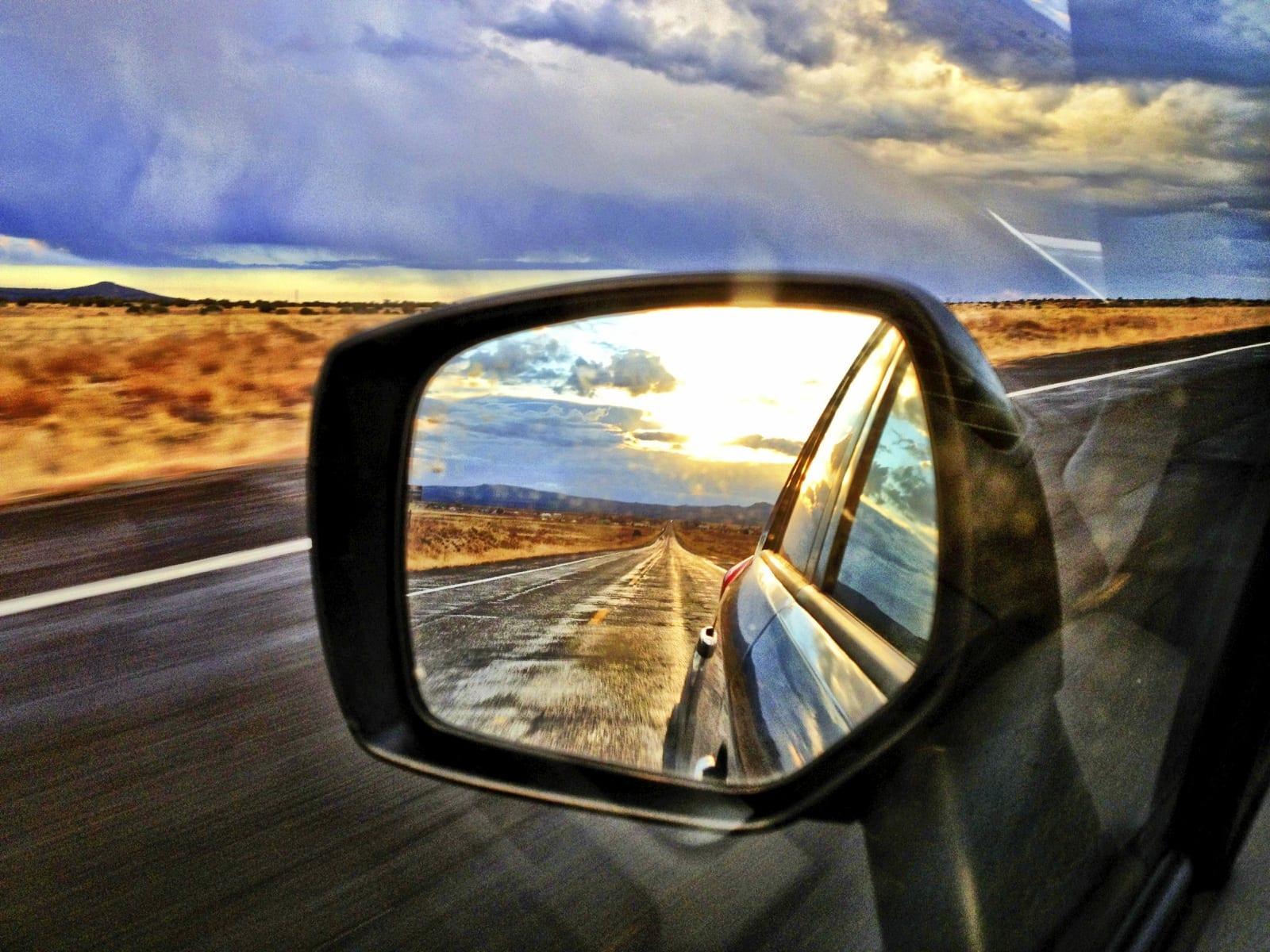 Side View Mirror Stock Photo