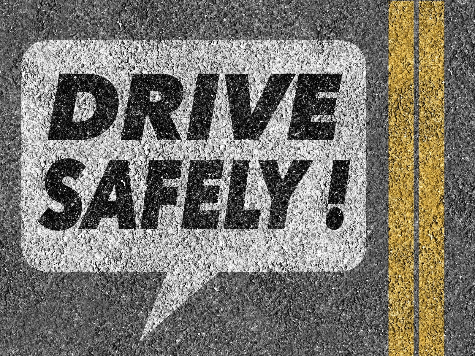 Drive Safely Stock Photo