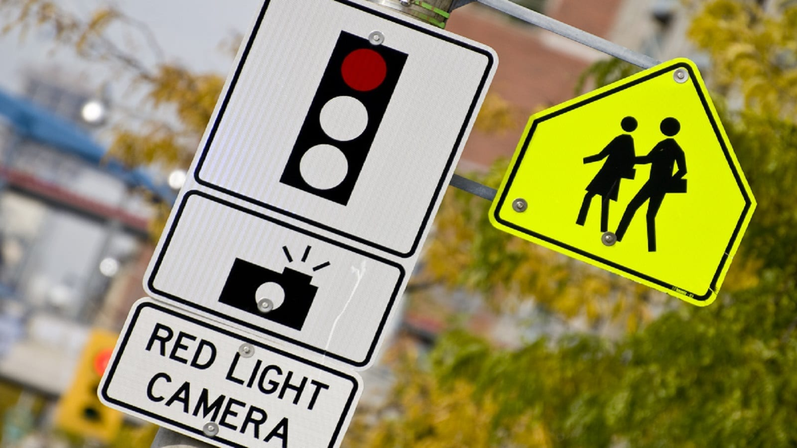 Red-Light Camera Stock Photo