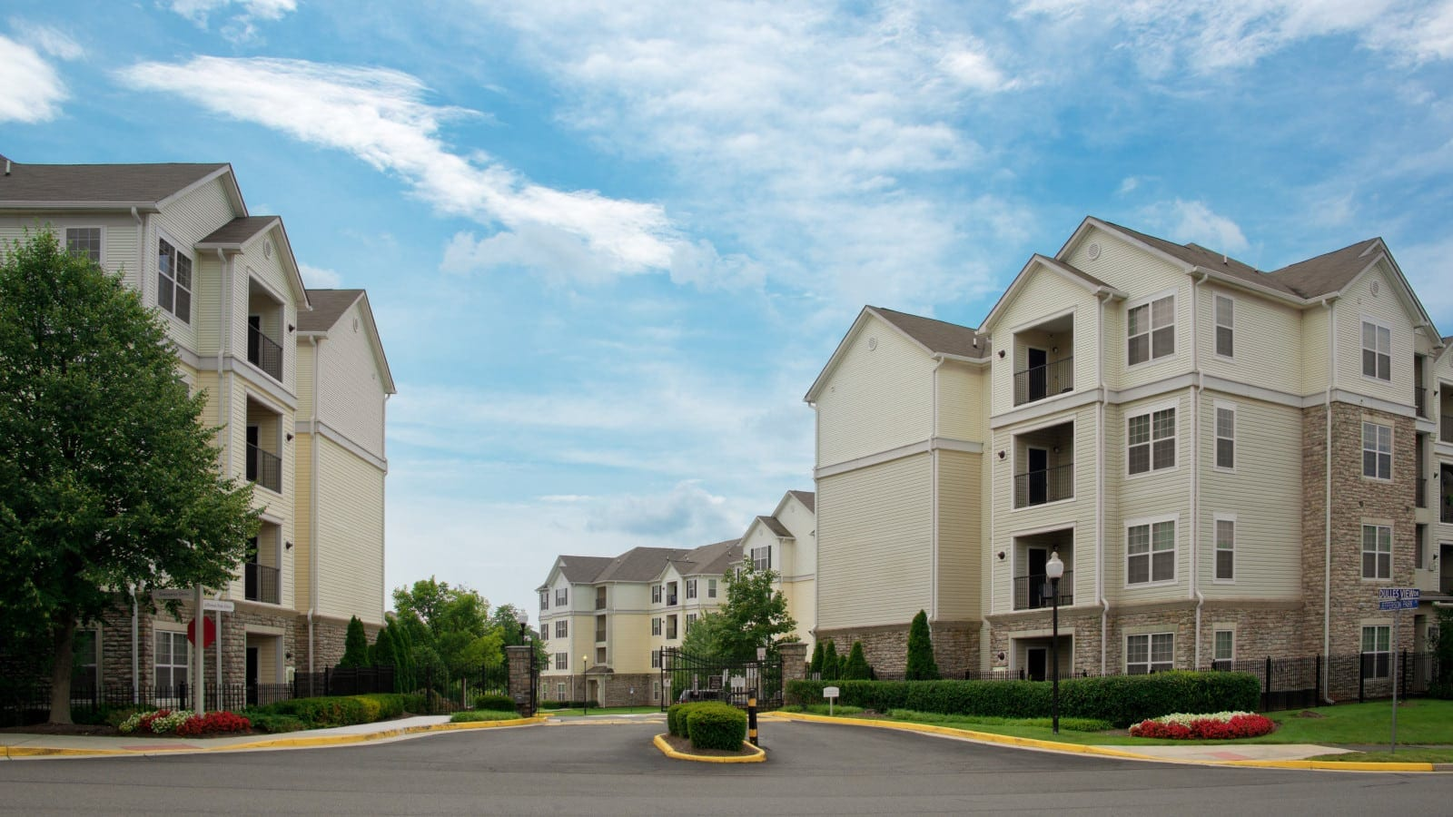 Gated Apartment Complex Stock Photo