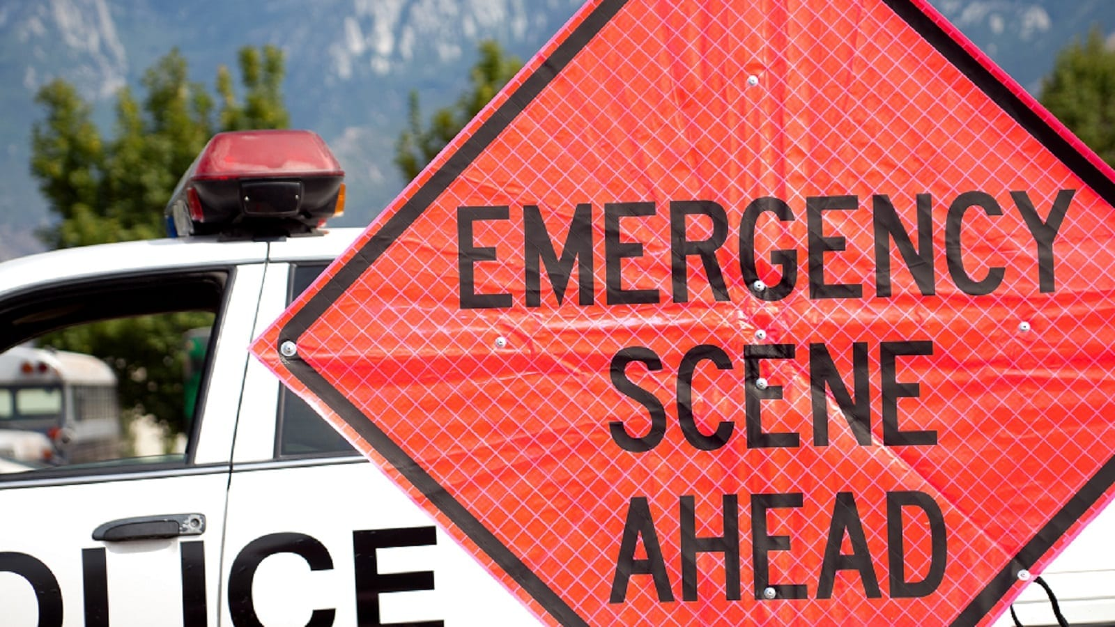 Emergency Scene Ahead Stock Photo