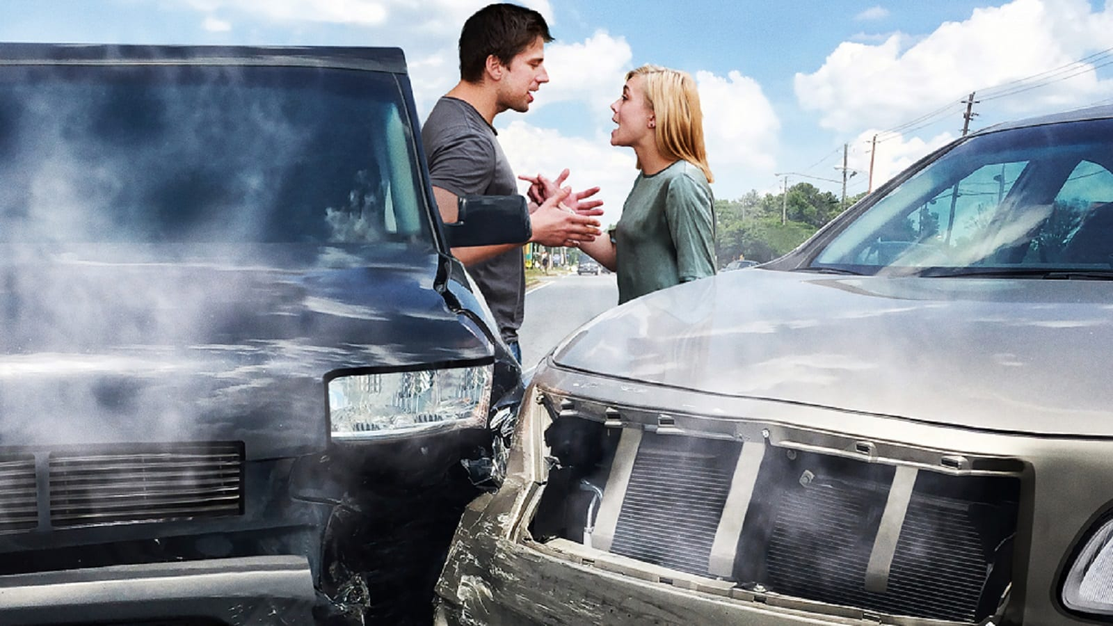Two Drivers Arguing After An Auto Accident