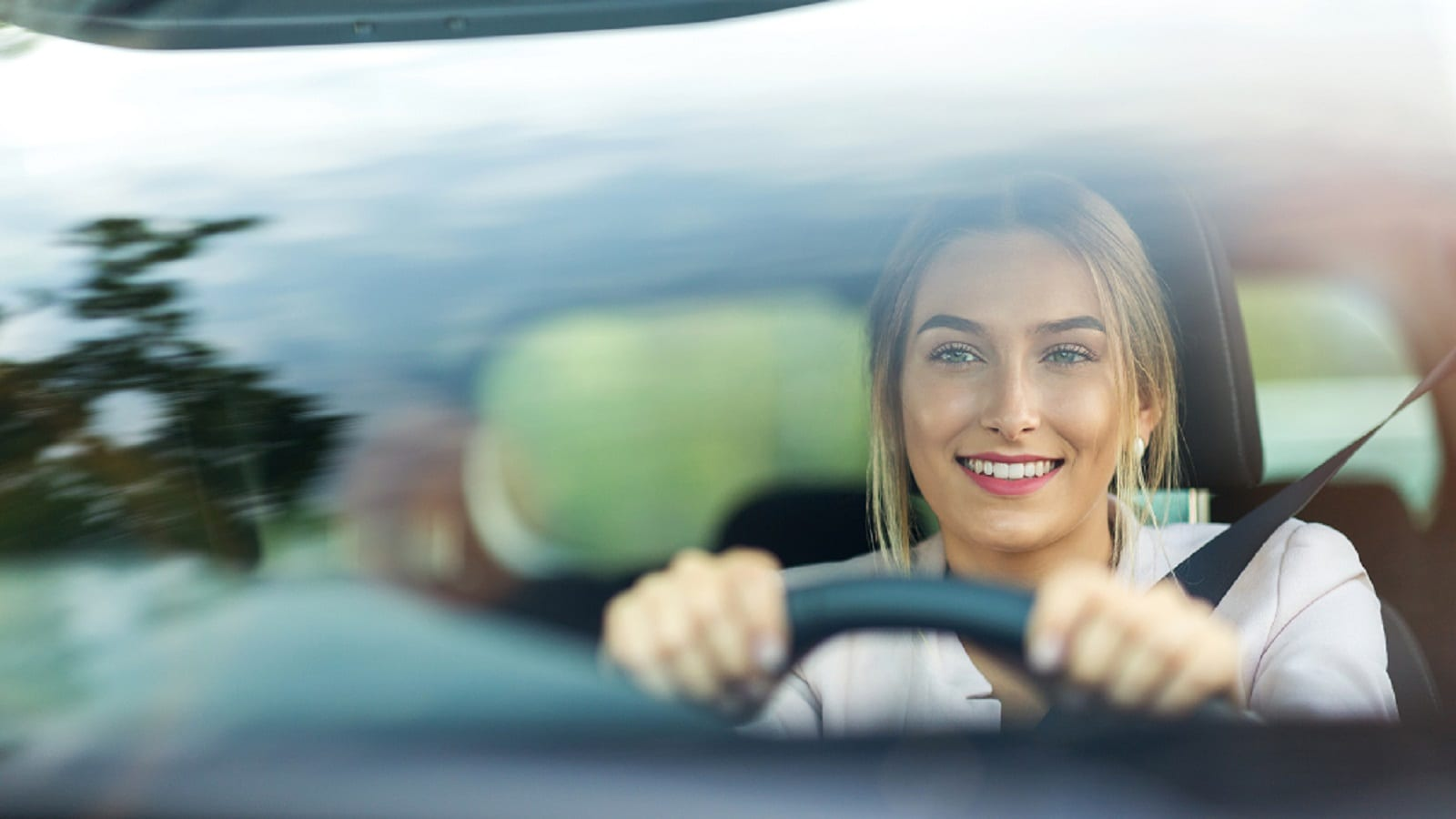 Smiling Female Driver Stock Photo