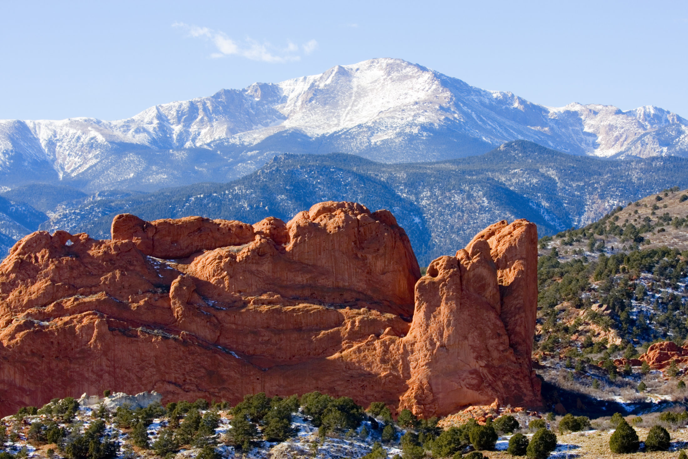 Pikes Peak and Garden of the Gods Colorado Springs