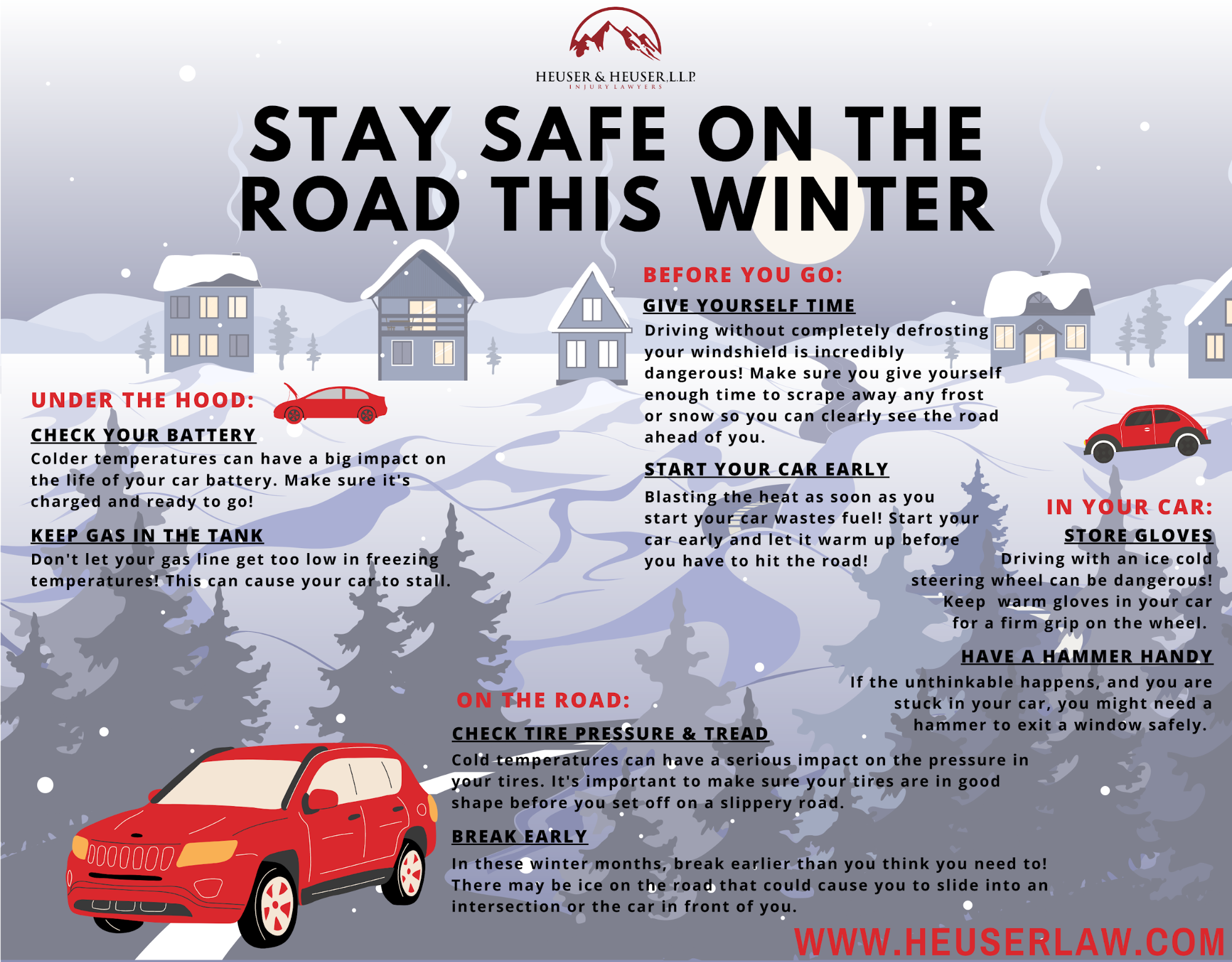 Colorado Springs winter driving tips infographic