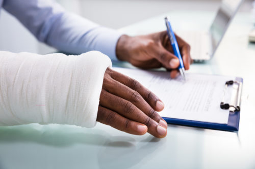 a person filing a personal injury claim after a Colorado Springs injury