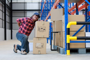 A warehouse worker suffering on-the-job injury in Colorado Springs.